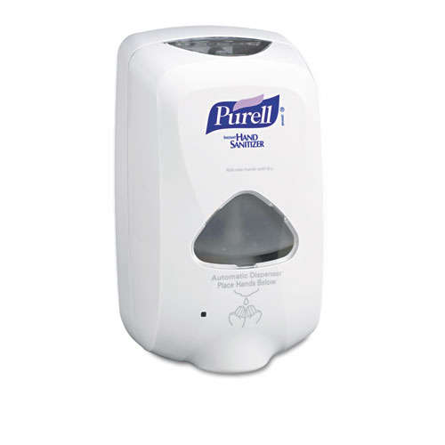 "PURELL® TFX Touch Free Dispenser, 1200 mL, 6.5"" x 4.5"" x 10.58"", Dove Gray"
