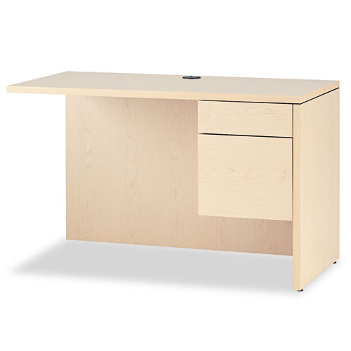 10500 Series L Workstation Return, 3/4 Height Right Ped, 48 x 24, Natural Maple