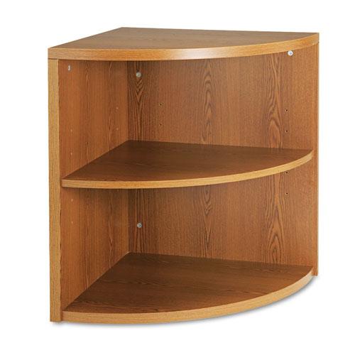 HON® 10500 Series Two-Shelf End Cap Bookshelf, 24w x 24d x 29-1/2h, Harvest