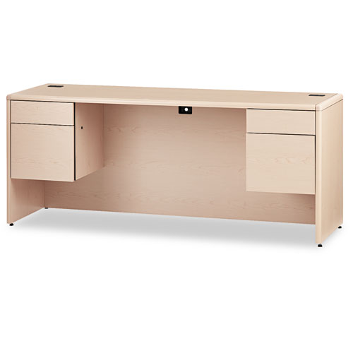 HON® 10700 Kneespace Credenza, 3/4 Height Pedestals, 72 x 24 x 29 on hon 10700 series credenza, l-shaped executive desks with credenza, hon park avenue couch set, hon storage cabinet hutch, hon executive kneehole credenza, hon lock kit, hon desk with return,