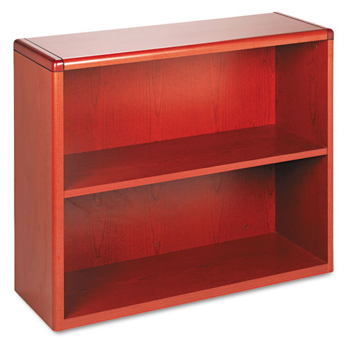 HON® 10700 Series Wood Bookcase, Two Shelf, 36w x 13 1/8d x 29 5/8h, Harvest
