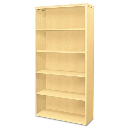 Valido Series Bookcase, Five-Shelf, 36w x 13-1/8d x 71h, Natural Maple