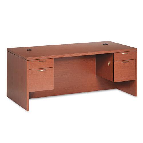 HON® Valido 11500 Series Double Ped. Rectangle Top Desk, 72 x 36, Bourbon Cherry