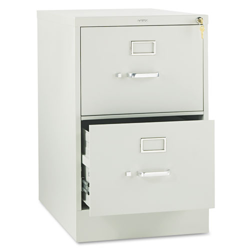 310 Series Two-Drawer Full-Suspension File, Legal, 18.25w x 26.5d x 29h, Light Gray