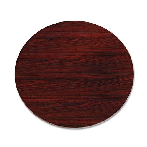 "10500 Series Round Table Top, 42"" Diameter, Mahogany | by Plexsupply"