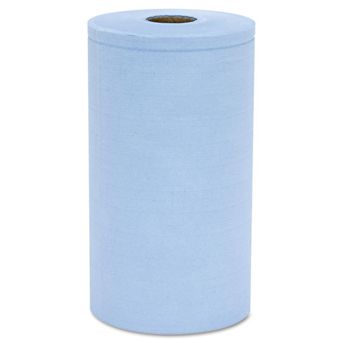 HOSPECO® Prism Scrim Reinforced Wipers, 4-Ply, 9 3/4 x 275ft Roll, Blue, 6 Rolls/Carton