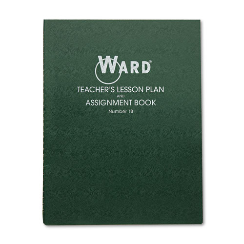 Lesson Plan Book, Wirebound, 8 Class Periods/Day, 11 x 8-1/2, 100 Pages, Green | by Plexsupply