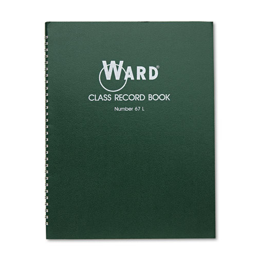 Class Record Book, 38 Students, 6-7 Week Grading, 11 x 8-1/2, Green | by Plexsupply