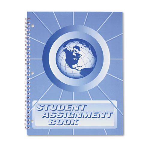 Student Assignment Book, 40 Weeks, 11 x 8-1/2, Laminated Cover | by Plexsupply