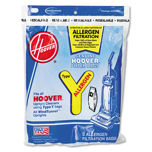 Disposable Allergen Filtration Bags For Commercial WindTunnel Vacuum, 3PK/EA | by Plexsupply