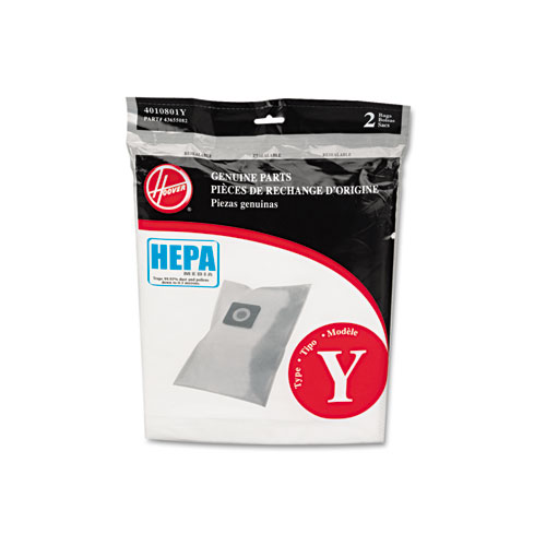 HEPA Y Filtration Bags for Hoover Upright Cleaners, 2PK/EA | by Plexsupply