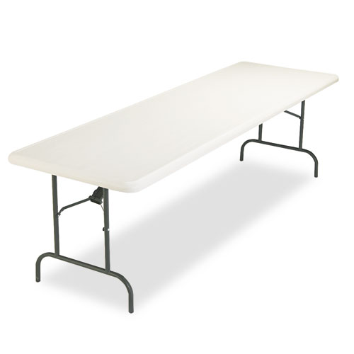 IndestrucTables Too 1200 Series Folding Table, 96w x 30d x 29h, Platinum | by Plexsupply