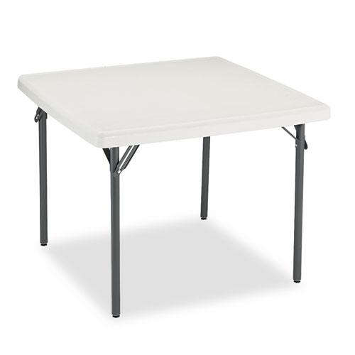 Iceberg IndestrucTables Too 1200 Series Resin Folding Table, 37w x 37d x 29h, Platinum