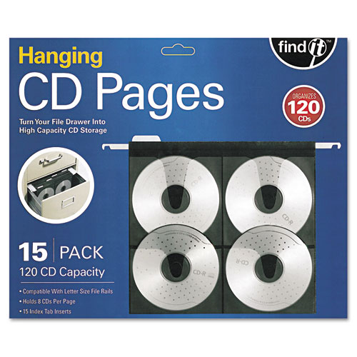 Hanging CD Pages, 15/Pack | by Plexsupply
