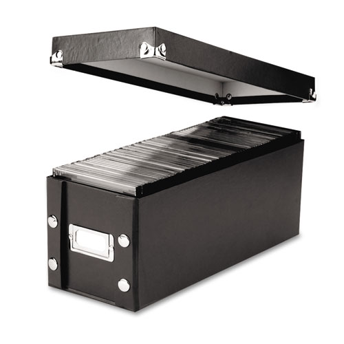 Media Storage Box, Holds 60 Slim/30 Standard Cases | by Plexsupply