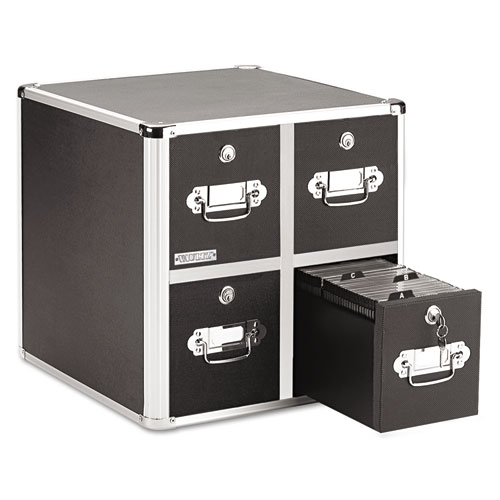 4-Drawer CD File Cabinet, Holds 660 Folders or 240 Slim/120 Standard Cases | by Plexsupply