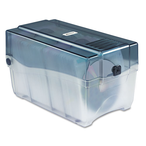 CD/DVD Storage Case, Holds 150 Discs, Clear/Smoke | by Plexsupply