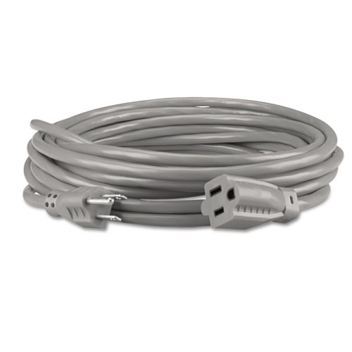 Innovera® Indoor Heavy-Duty Extension Cord, 9ft, Gray