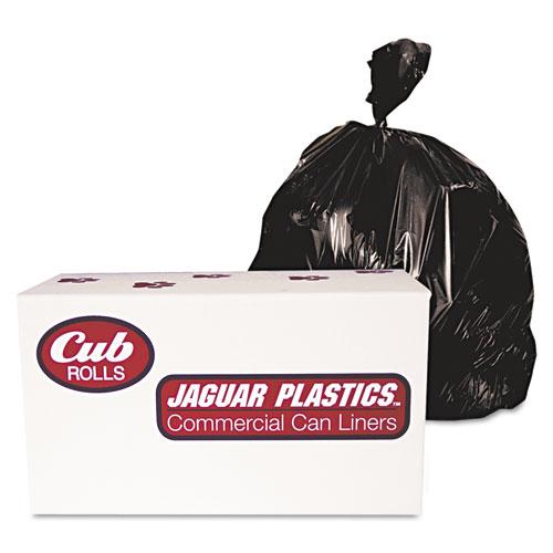 """Jaguar Plastics® Industrial Drum Liners, Rolls, 60 gal, 1.8 mil, 38"""" x 63"""", Clear, 75/Carton"""