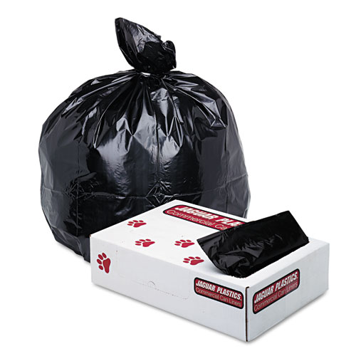 "Industrial Strength Low-Density Commercial Can Liners, 33 gal, 1.7 mil, 33"" x 39"", Black, 150/Carton"