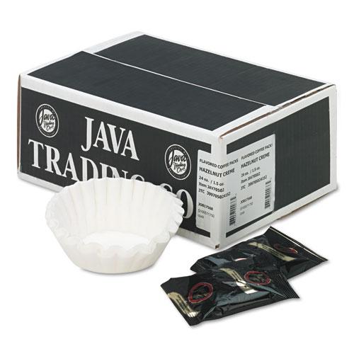 Distant Lands Coffee Coffee Portion Packs, 1.5oz Packs, Hazelnut Crème, 24/Carton