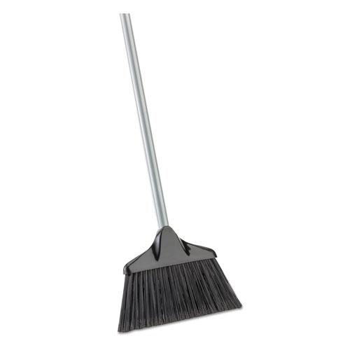 Housekeeper Broom, 54 Overall Length, Steel Handle, Black/Gray, 6/CT
