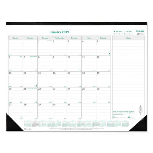 Ecologix Monthly Desk Pad Calendar By Brownline