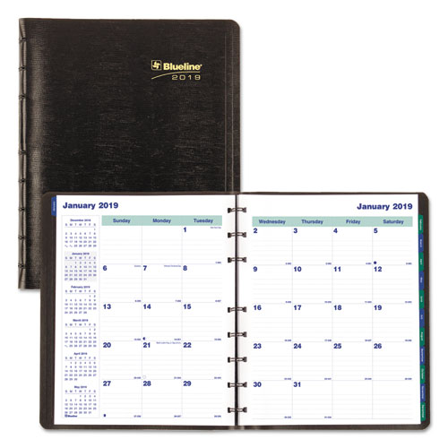 MiracleBind 17-Mo. Academic Planner, Soft Cover, 9 1/4 x 7 1/4, Black, 2018-2019
