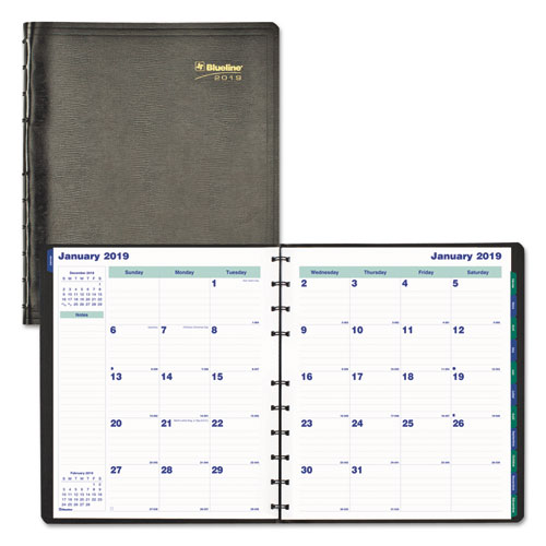 MiracleBind 17-Month Academic Planner, Soft Cover, 11 x 9 1/16, Black, 2018-2019