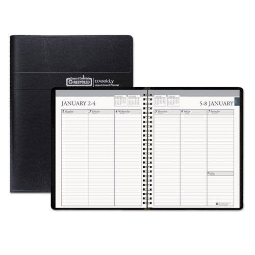 recycled weekly appointment book ruled without times 6 7 8 x 8 75
