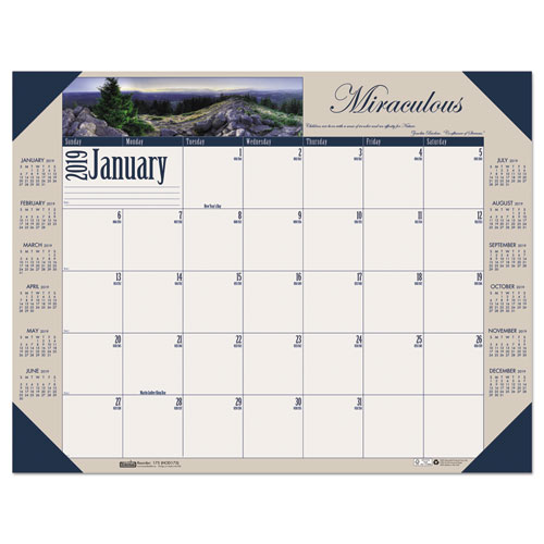 Recycled Motivational Photographic Monthly Desk Pad