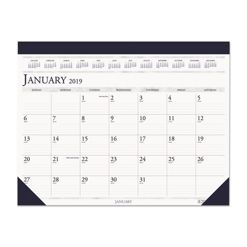 View 100 Recycled Two Color Dated Monthly Desk Pad
