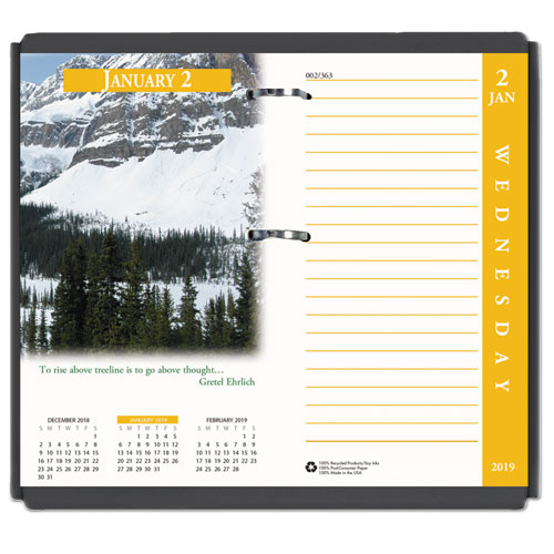 earthscapes daily calendar refill 3 1 2w x 6h 2015 full color
