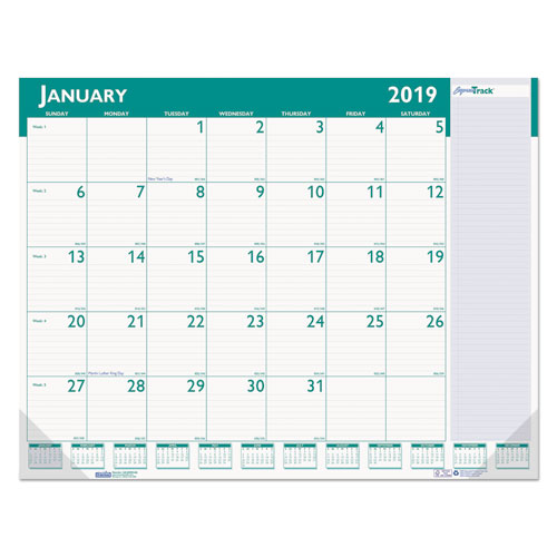 Express Track Monthly Desk Pad Calendar By House Of