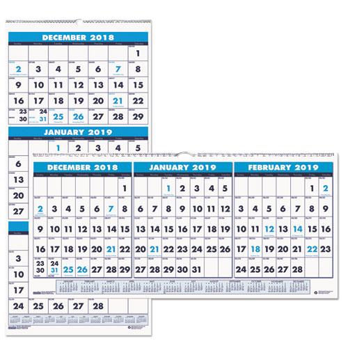 Three Month Academic Wall Calendar 8 X 17 14 Month June July