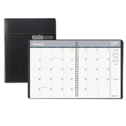 house of doolittle recycled ruled monthly planner w expense log 6