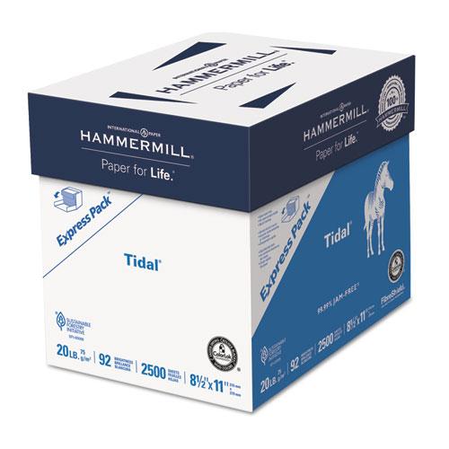 Hammermill® Tidal Paper Express Pack, 92 Bright, 20lb, 8-1/2 x 11, White, 2500/Carton