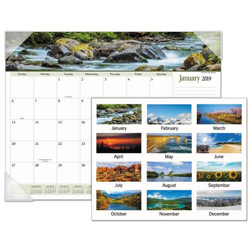 Landscape Panoramic Desk Pad, 22 x 17, Landscapes, 2019