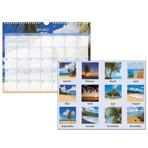 Tropical Escape Wall Calendar, 15 x 12, 2021