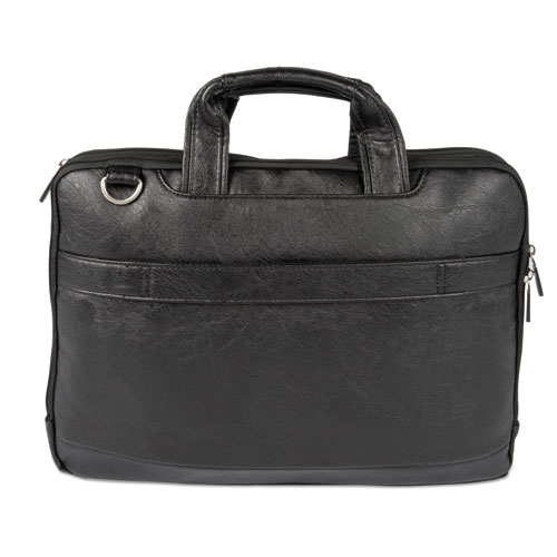 """Harold Slim Briefcase, 11"""" x 3"""" x 11.5"""", Synthetic Leather, Black"""