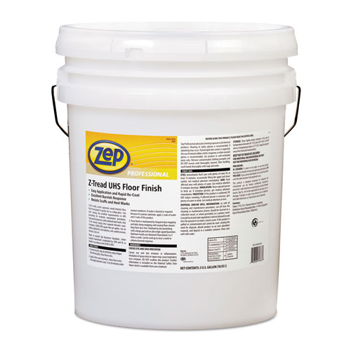 Zep Professional® Z-Tread UHS Floor Finish, 5 gal Pail