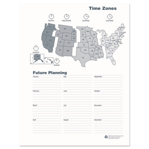 Recycled Ruled Monthly Planner, 14-Month Dec.-Jan., 11 x 8.5, Black, 2020-2022