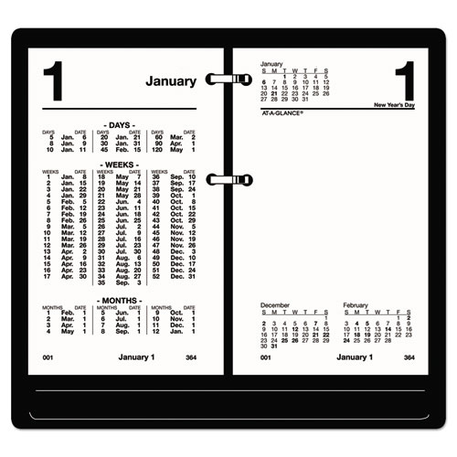 Financial Desk Calendar Refill, 3 1/2 x 6, White, 2020 | by Plexsupply