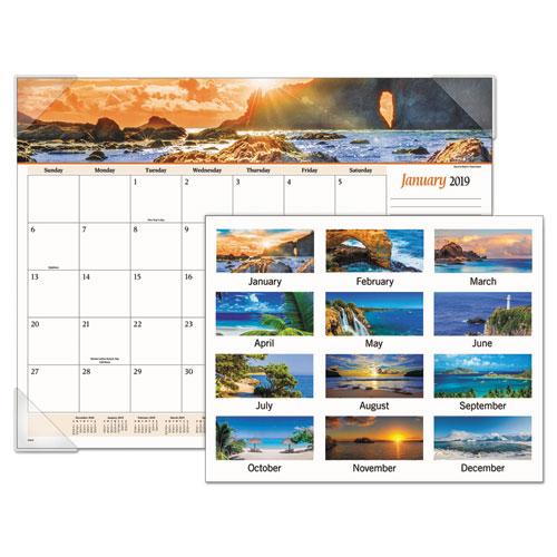 Seascape Panoramic Desk Pad, 22 x 17, 2019