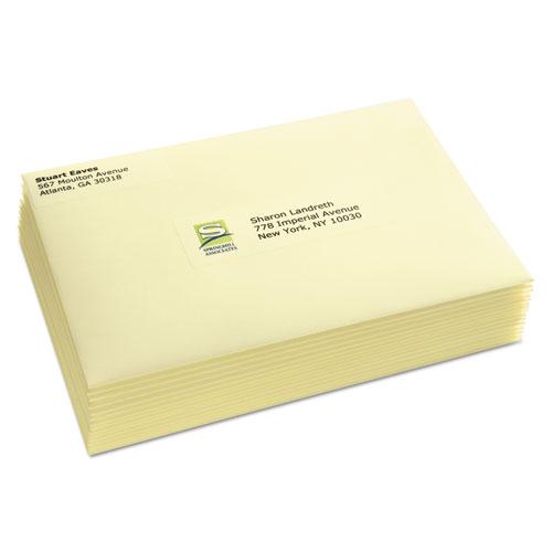 avery matte clear easy peel address labels laser 1 x 2 5 8 300