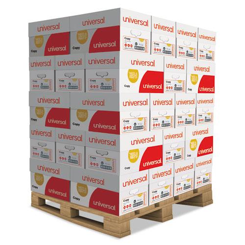 Copy Paper, 92 Bright, 20 lb, 8.5 x 11, White, 500 Sheets/Ream, 10 Reams/Carton, 40 Cartons/Pallet