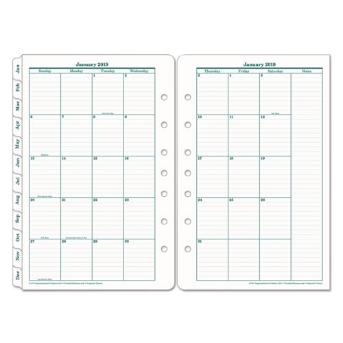 franklincovey original dated monthly planner refill january
