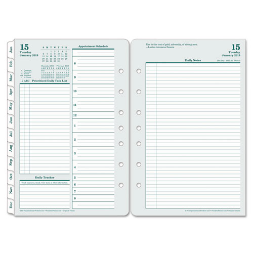 Original Dated Daily Planner Refill By FranklinCovey