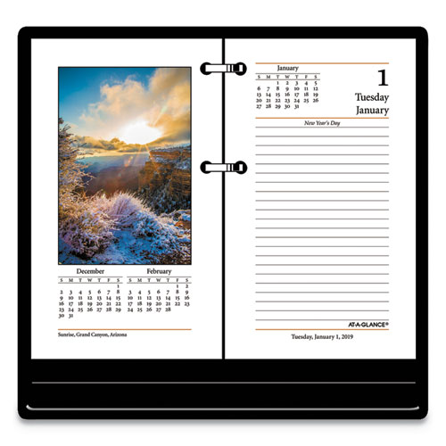 Photographic Desk Calendar Refill 3 1 2 X 6 2019