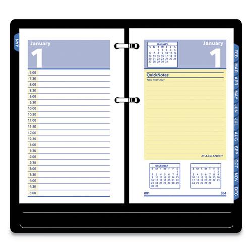 QuickNotes Desk Calendar Refill, 3 1/2 x 6, 2019